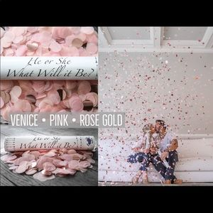 2 Gender Reveal Confetti Cannons PINK & ROSE GOLD